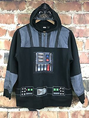 Star Wars Boys Size XL 16/18 Black Darth Vader Hoodie Eye Mask Full Zip