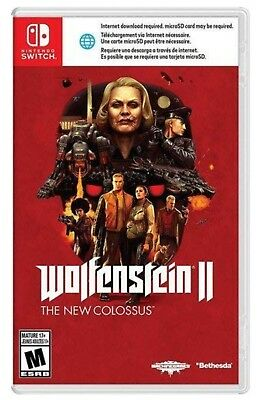 Wolfenstein Ii The New Colossus * Nintendo Switch * Brand New Factory Sealed!