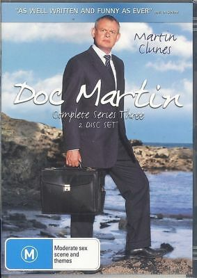 Doc Martin Complete Series 3 DVD LIKE NEW Region 4 FREE POST