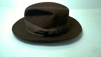 c2b519a6 ... hot authentic 1984 indiana jones lucasfilm stetson fedora wool hat  brown vintage e2524 62dcb