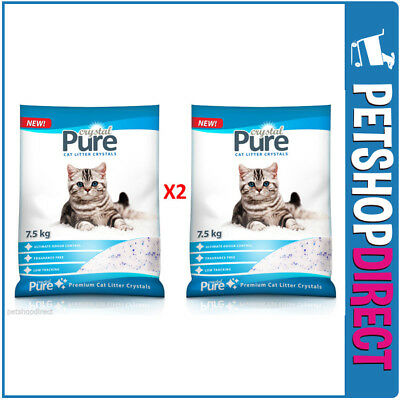 Cat Litter Crystals 2 x 7.5kg BULK BAGS (15KG) - SYDNEY DELIVERY ONLY -
