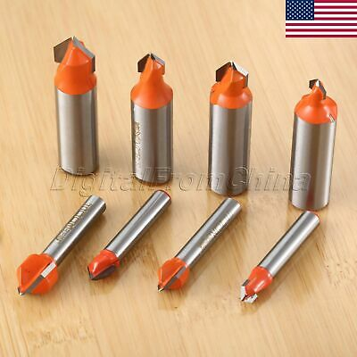 Us Carbide Wood Router Bit V Shape Trimmer Engraving