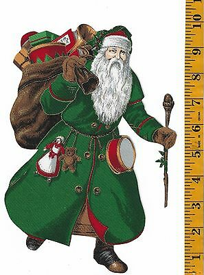 Christmas Santa ~Green~ Iron-On Fabric Applque~No Sewing ~