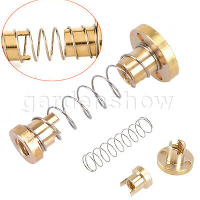 T8 8mm Anti-backlash Spring Loaded Nut For 3D Printer Trapezoidal Rod Lead Screw
