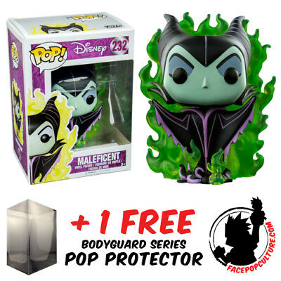 Funko Pop Disney Maleficent With Green Flames Exclusive + Free Pop Protector