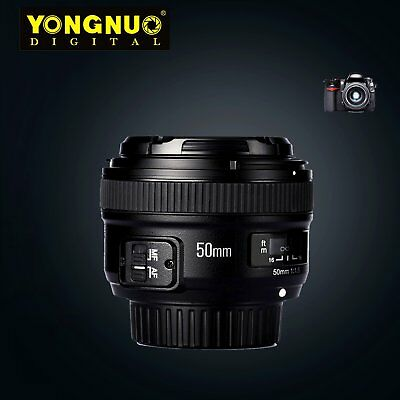 Yongnuo YN50mm F1.8N Large Aperture MF AF Auto Focus Prime Lens For Nikon DSLR