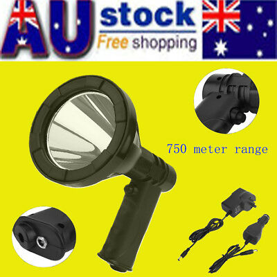 35W 12V CREE LED Handheld Spot Light Rechargeable Spotlight Hunting Shooting T6