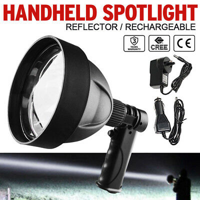 12V CREE 35W 1 Handheld Spot Light Rechargeable  LED Spotlight Hunting Shooting