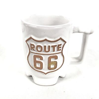 Frankoma C1 White Sands Route 66 Coffee Cup Mug