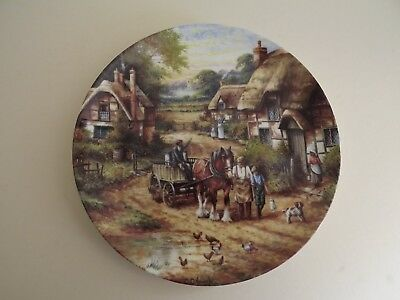 Wedgwood Country Days Collector Plate ~ Early Morning Milk