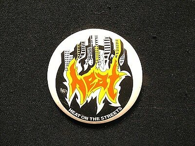 Heat Large Vintage Button Badge Pin Not Cd Patch Shirt Poster Lp Uk Import