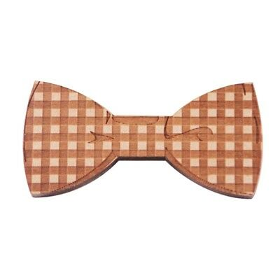 Wood Bow Ties For Men Wooden Mens Bow Ties for Wedding Party Yarn Butterfly D O1