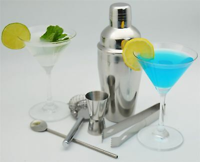 5x Stainless Steel Cocktail Shaker Mixer Drink Pub Alcohol Party Martini Bar、Fad