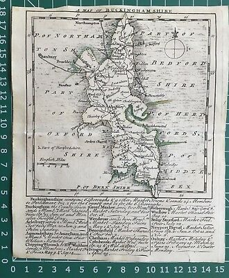 1748 Antique Map; Kitchin/Jefferys map of Buckinghamshire, Small English Atlas.