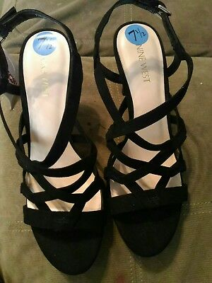 9a11e2d01c9 NINE WEST NWELISA Women s Heel Platform Sandals Size 7 New In Box ...