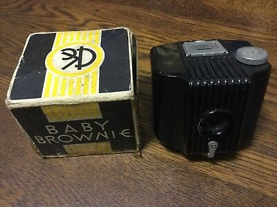 MINTY KODAK BABY BROWNIE - Old Vintage Box Camera c1930's - USA