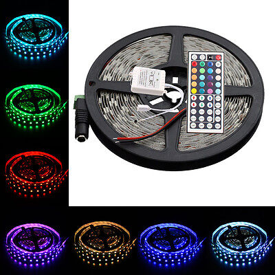 16.4FT RGB Changing Color Flexible Led Strip Lights SMD5050 300led&44Key Remote