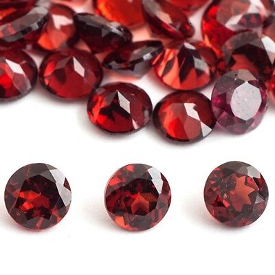Round cut faceted 3.5mm to 6mm Natural red GARNET loose gemstone for jewelry