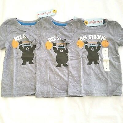 c047e8e775 CAT & JACK Toddler Boys Short Sleeve Bee Strong Graphic T-Shirt Size 2T Set