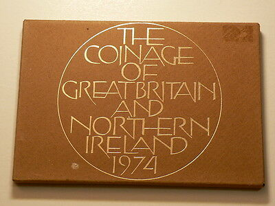 Great Britain 1974 Coinage of GB and Northern Ireland 6 Coins #G3810