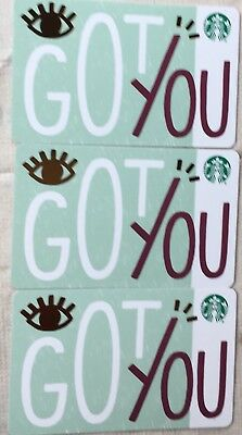 "Lot 3 Starbucks ""GOT YOU"" 2018 Recycled Paper Edition gift card set NEW"
