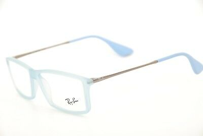 6fd61c058a New Authentic Ray Ban RB 7021 Matthew 5370 Matte Light Blue 55mm Eyeglasses  RX