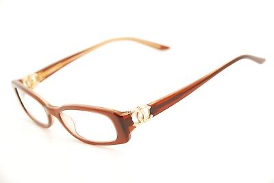 e945a7d220 New Authentic Chanel 3106 c.833 Gold Brown 50mm Eyeglasses Frames Italy RX