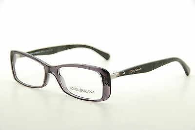 7431fabe4050 New Authentic Dolce   Gabbana DG 3139 1861 Black Grey 52mm Eyeglasses RX  Italy