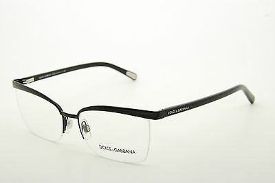 2d9935ac0eeb New Authentic Dolce   Gabbana DG 1221 01 Black 56mm Eyeglasses Frames RX  Italy