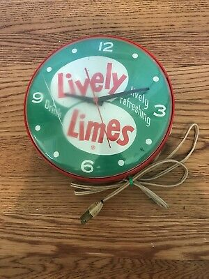 Very Rare Lively Limes Soda Clock
