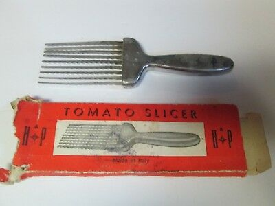 Vintage Hand Held H&P Tomato Slicer Made in Italy All Metal