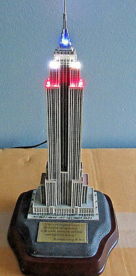 """Danbury Mint Lighted Empire State Building -- Replica -- Collectible -- 10.5"""""""