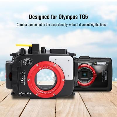 Underwater Waterproof Housing Case Diving Cover For Olympus TG5 Camera UK STOCK
