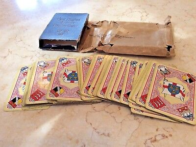 ANTIQUE playing cards dated 1906, in good condition, original packaging, 52 CARD