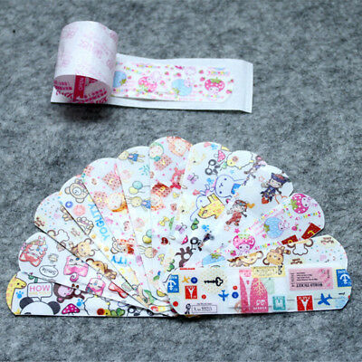 50Pcs Kids Children Cute Cartoon Band Aid Variety Different Patterns Bandages FB