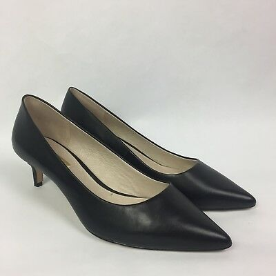 b01e5f899a3 Louise et Cie Jacoba Pointed Heels Sz 7.5 Womens Black Shoes Pumps Leather 1  of 7 ...