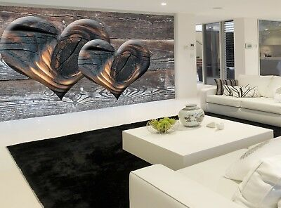 Heart in the Wood  Photo Wallpaper Wall Mural DECOR Paper Poster Free Paste