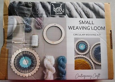 Wool Couture. Small Weaving Loom. Circular Weaving Kit. Unwanted Gift. Brand New