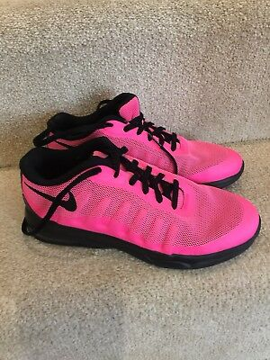 GIRLS NIKE AIR MAX INVIGOR GS 749576 601 Hot Pink and Black Size UK 2 EU 34