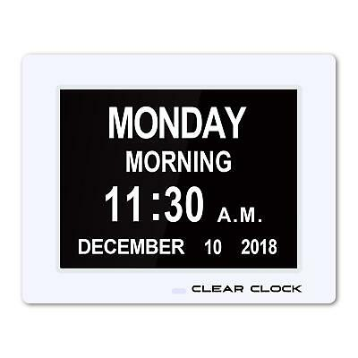 Clear Clock [Newest Version] Extra Large Digital Memory Loss Calendar Day Clock