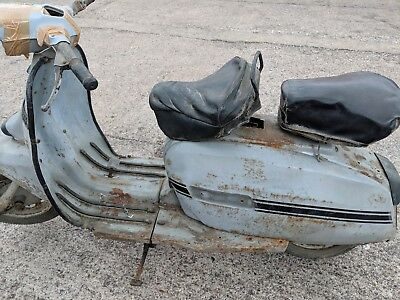 lambretta scooter Indian grey gp 150 project with extra parts