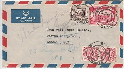 Burma: Airmail Cover; Mandalay, via Rangoon, to London, 8-10 March 1950