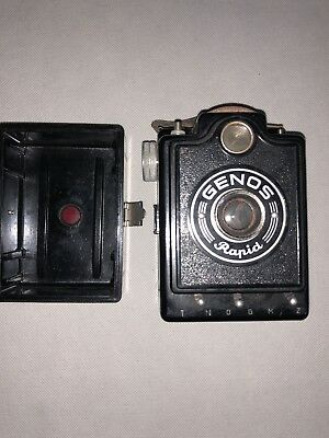 Vintage Rare Genos Rapid Bakelite box Camera c1950 Not Tested