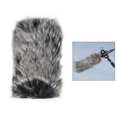 Large Size Outdoor Microphone Mic Furry Windscreen Windshield Cover Muff C2W2