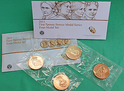 2011 First Spouse Medal Bronze Series Four Medal Set Issued US Mint Complete #R
