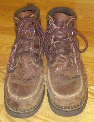 37508554d8b MEN'S 9 ROPER casual lace up ankle boots brown leather - $40.00 ...