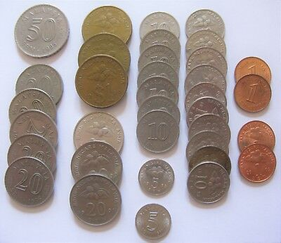 Mixed Lot of Coins From Malaysia Includes Sen & Ringgit