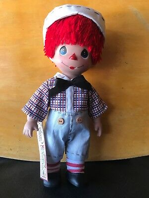 "Precious Moments Raggedy ANDY 12"" Vinyl Doll 4558 -NEW"