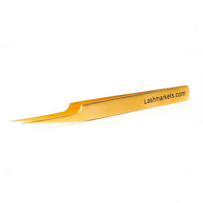 Gold Eyelash Extension Tweezers