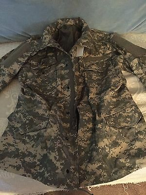 Us Military Issued Universal Camouflage Field Coat Medium-Regular Nwt Real-Deal